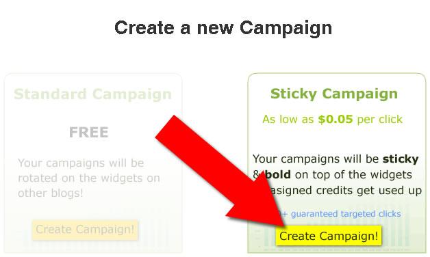 create sticky post