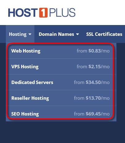 host1plus services
