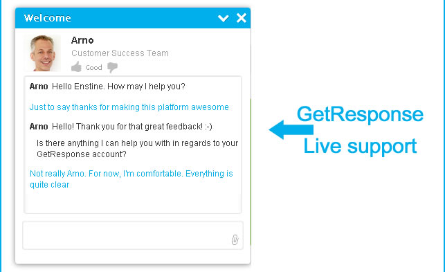 getresponse live support