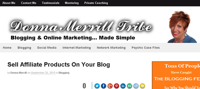 sell affiliate marketing products donna