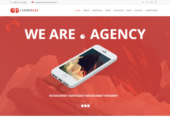 Multipurpose Multilayered WordPress Theme