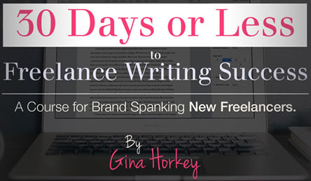 freelance writing course by Gina