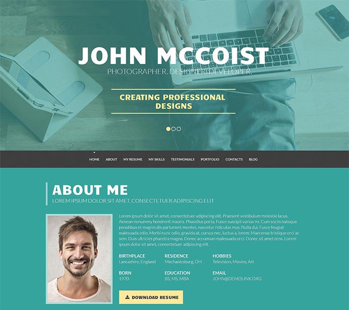 Persuasive Web Portfolio WordPress Theme