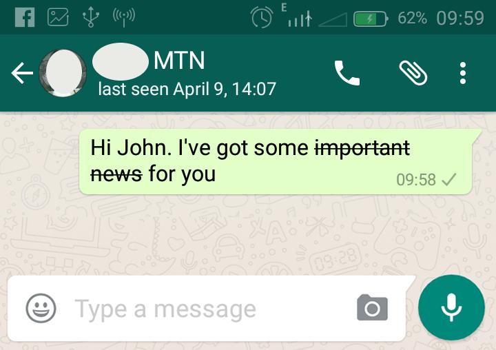 strikethrough whatsapp text