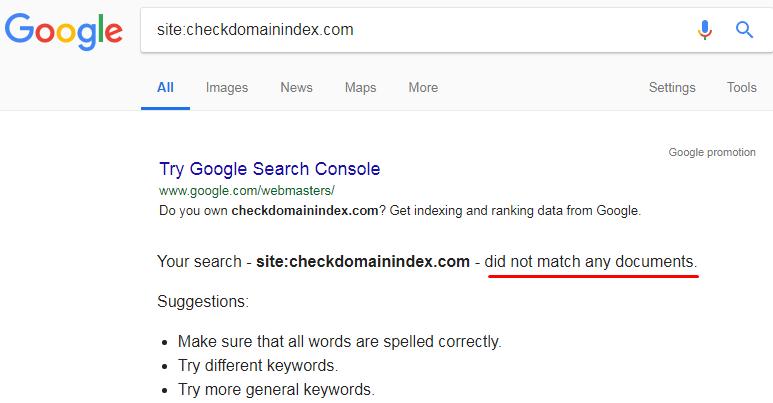 check domain index