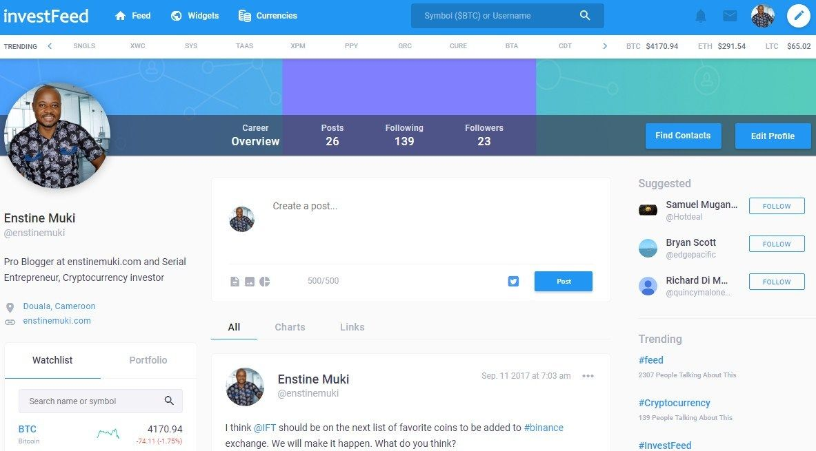 investfeed cryptocurrency