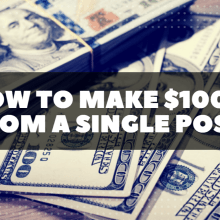 How to Make $1000 from a single post