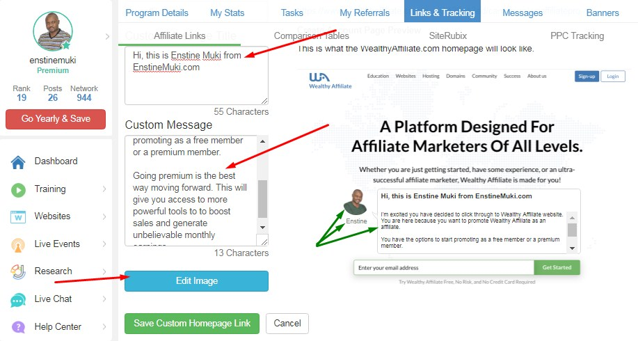 wealthy affiliate affiliate program home page