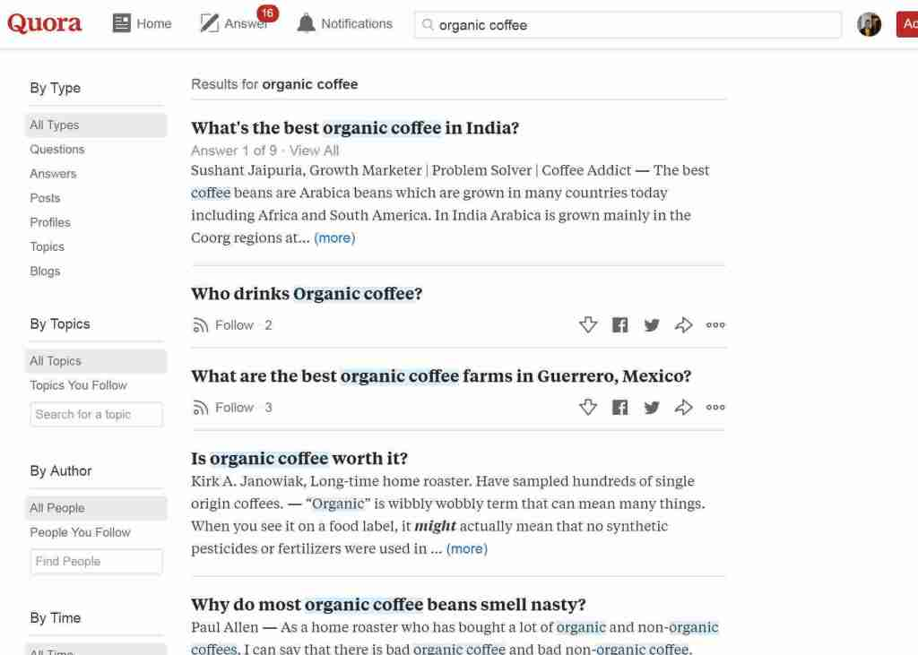 Quora is a keyword research goldmine