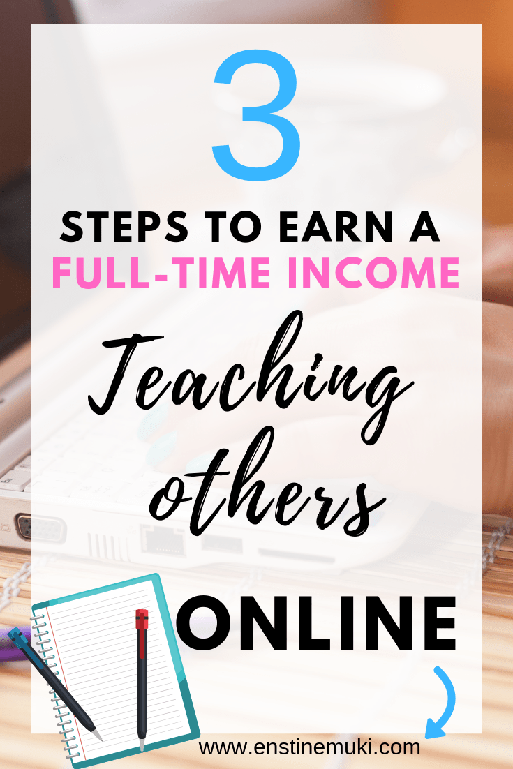 You can earn a full time income online just by teaching others what you do best. Mary Fernandez in this post shows us in 3 steps how to monetize your passion online