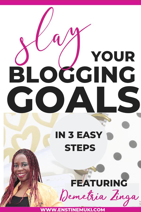 save your blogging goals in 3 simple steps #blogging #goals