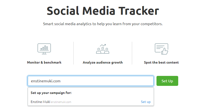 semrush social media tracker