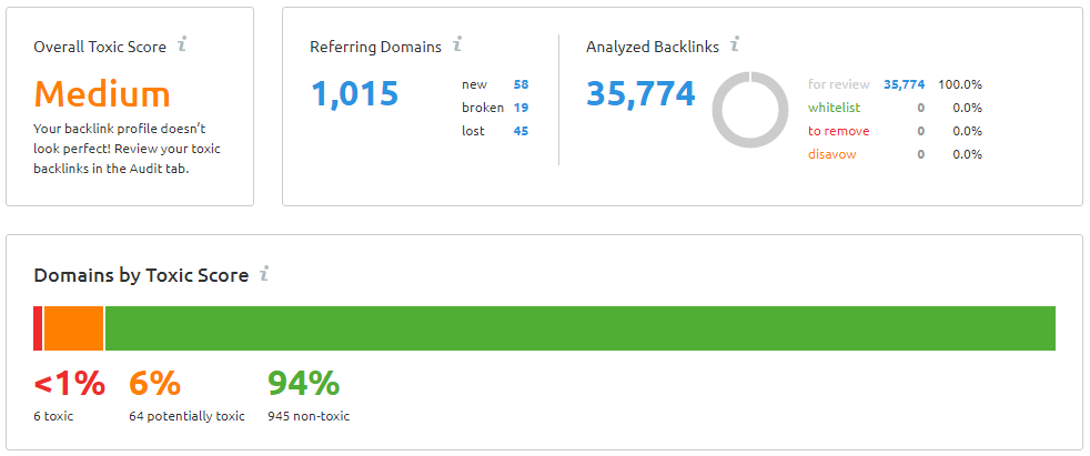link audit report