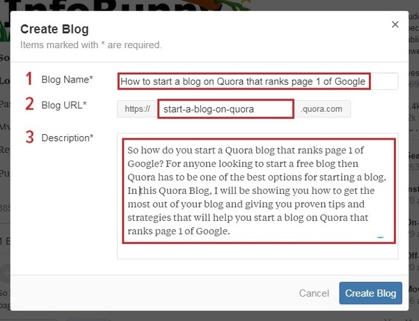 start a blog on Quora that ranks on Google - Create Blog