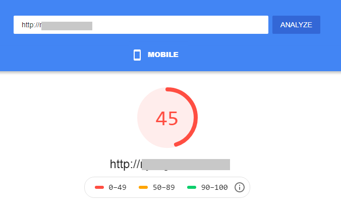 mobile site friendliness