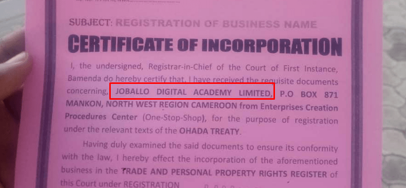 joballo business registration