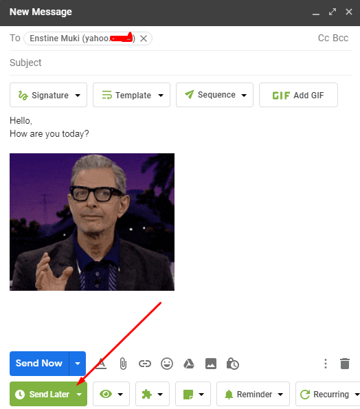 send emails later with gmail