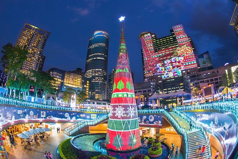 台湾のクリスマスの過ごし方とイルミネーションの見どころスポットは?