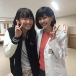 石橋杏奈と飯豊まりえの美人2ショットが話題!
