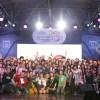 夏焼雅・小林ひかる・二瓶有加によるボーカルグループ PINK CRES.(ピンククレス)が初の海外公演を行いタイ語でファンに感謝の気持ちを伝える