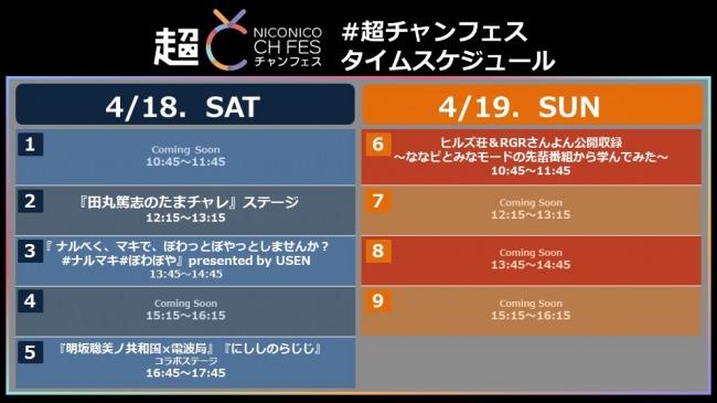 【超 NICONICO CH FES】田丸篤志・明坂聡美・西明日香の出演が決定!  ステージタイムスケジュールを公開 2月27日より体験チケットのチャンネル会員先行発売開始