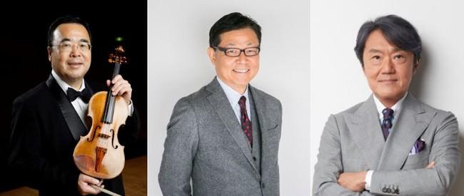 出演者(左から)澤和樹学長、伊東順二特任教授、千住明特任教授