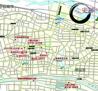 渋沢栄一史跡MAP