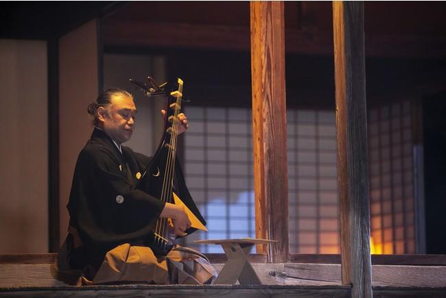 薩摩琵琶「蓬莱山」(友吉鶴心) 画像提供:芸団協