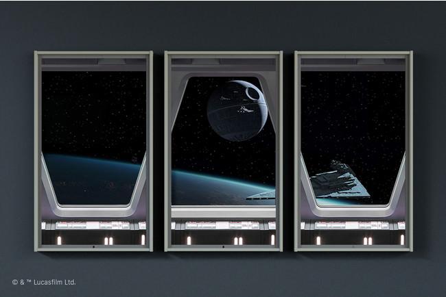 Atmoph Window 2 | Star Wars、製品の疑似体験ができるVRページをローンチ。スター・ウォーズモデル限定で搭載される窓枠デコレーションのミレニアム・ファルコンデザインも解禁。