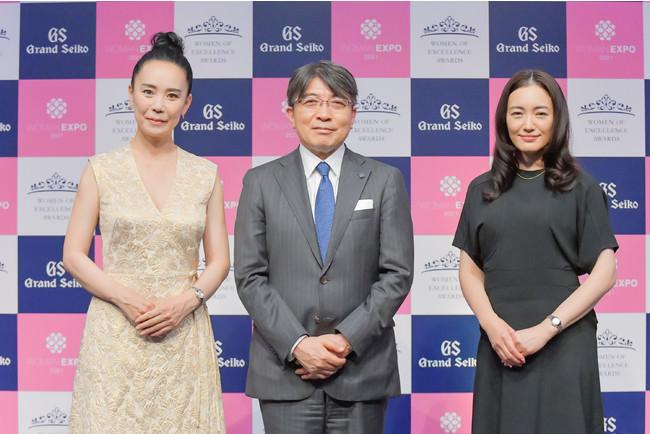 第7回「Women of Excellence Awards」Presented by Grand Seiko映画監督・河瀨直美さん、女優・仲間由紀恵さんが受賞