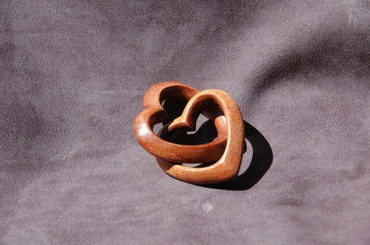 I think the two hearts look lovely nestling together, and you can't deny the 'wow' factor of their interlocked state.