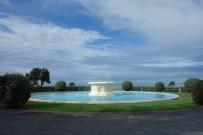 Blauer Himmel in Napier