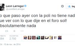 Tuit de León Larregui Sobre Ayotzinapa