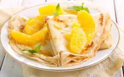 receta fácil de crepas de naranja