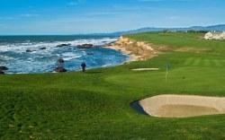 campo de golf en la playa