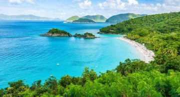vacaciones en las islas virgenes, islas vírgenes de los estados unidos, saint john, playas en saint john, playa trunk bay, playa leister bay, playa cinnamon bay