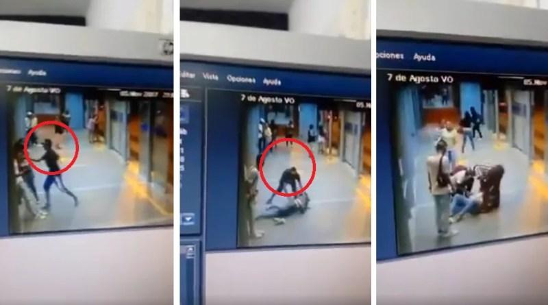 Una joven es apuñalada por robarle el celular dentro de una estación del MIO.