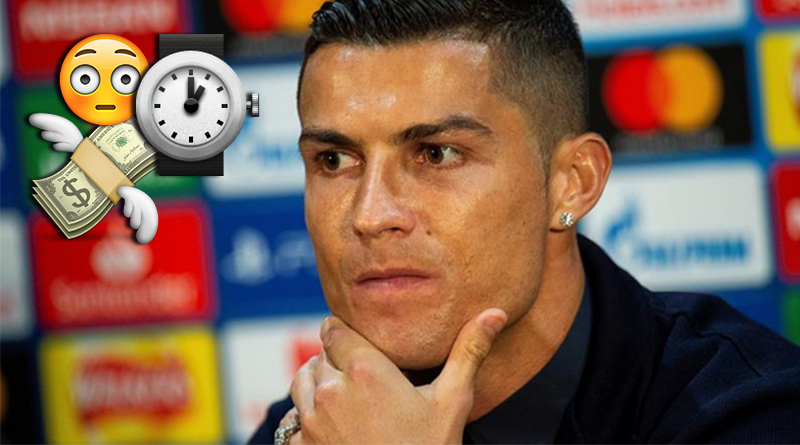 Cristiano Ronaldo hace babear a todos con su reloj de 2 millones de euros