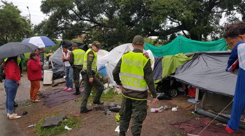 6 Kilos de marihuana fueron encontrados en campamento de venezolanos cerca al terminal