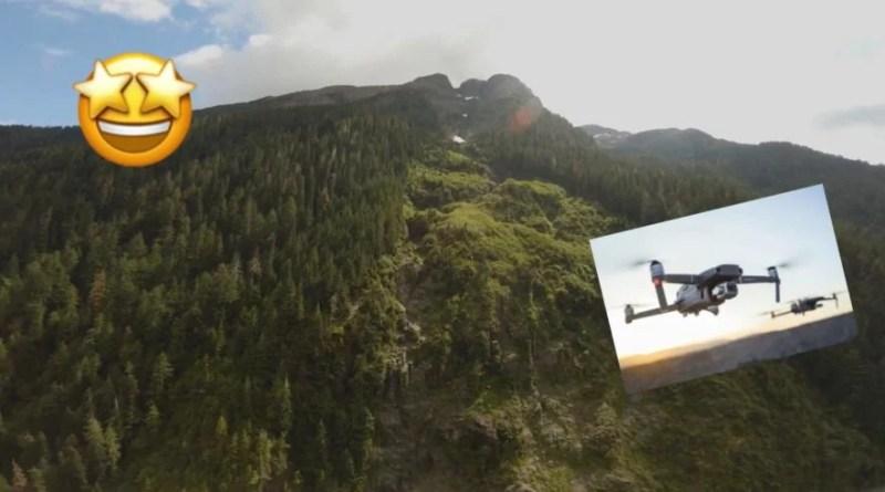 Drone sobre vuela una montaña dejando unas hermosas imágenes