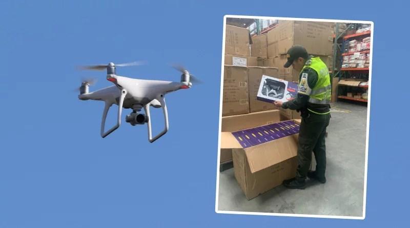 Drones de contrabando avaluados en 22 millones de pesos fueron aprehendidos