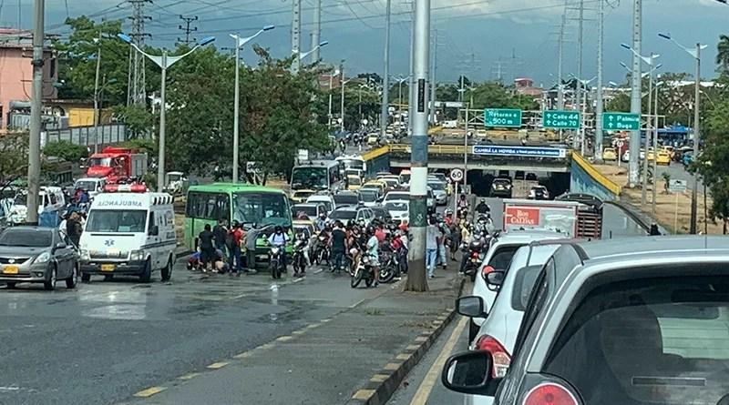 Otro lamentable accidente Autopista sur-oriental por Comfandi del Prado