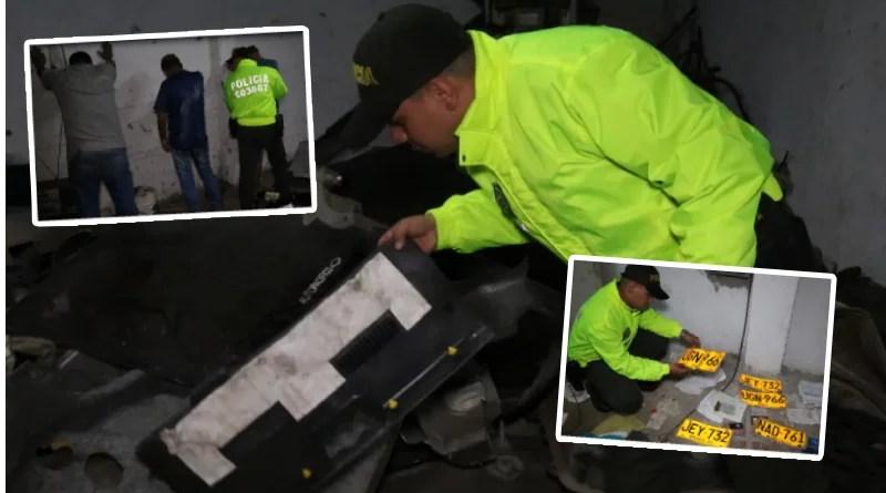 Desmantelan desguazadero de carros y capturan tres personas