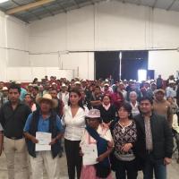 SADER Y HUEJOTZINGO REALIZAN ENTREGA DE APOYOS PARA PRODUCTORES DE CAMPO