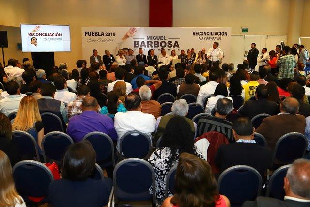 """21 MIL PROPUESTAS RECABA PROGRAMA """"DIÁLOGOS POR EL BIENESTAR"""" IMPULSADO POR MIGUEL BARBOSA HUERTA"""