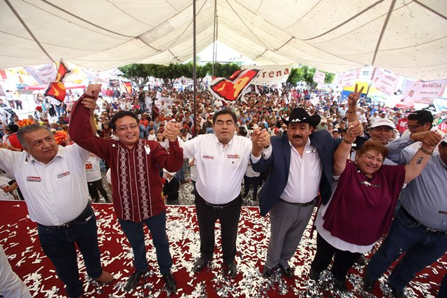 DESDE LOS REYES DE JUÁREZ MIGUEL BARBOSA ASEGURA QUE NO ASPIRA A ANULAR LAS FUERZAS POLÍTICAS DIFERENTES A MORENA