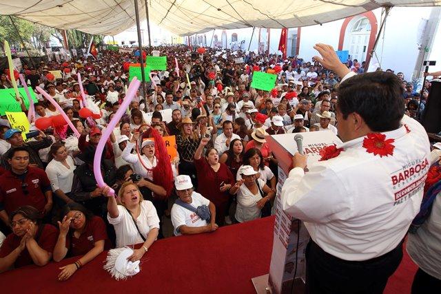 SIN IMPORTAR EL PARTIDO DE DONDE PROVENGAN, APOYARÉ A LOS ALCALDES PARA QUE CUMPLAN CON LA PALABRA EMPEÑADA: BARBOSA