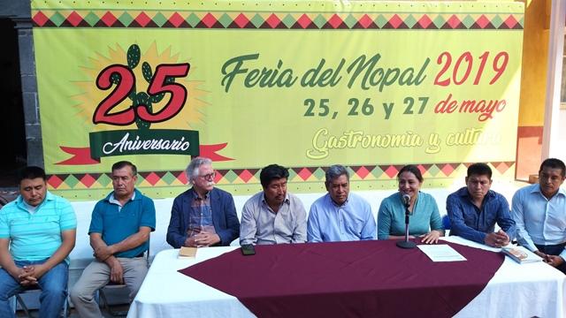 PRESENTAN LA FERIA DEL NOPAL 2019 DE SAN BERNARDINO TLAXCALANCINGO