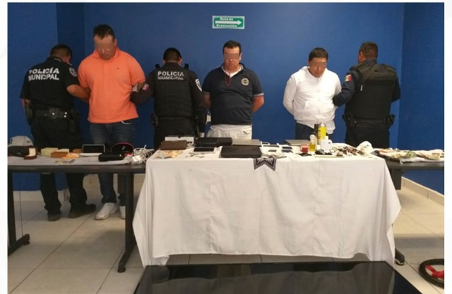 SSPTM DE SAN ANDRÉS CHOLULA DETIENE A BANDA DE ASALTANTES A CASA HABITACIÓN
