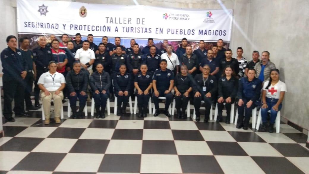 LA POLICÍA FEDERAL LLEVA A CABO EL TALLER EN SEGURIDAD Y PROTECCIÓN A TURISTAS EN LOS 9 PUEBLOS MÁGICOS DEL ESTADO DE PUEBLA